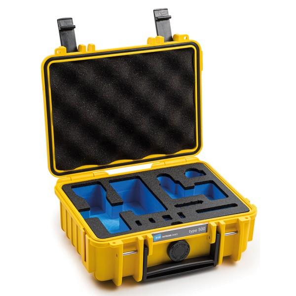 B&W Osmo Case Typ 500 für DJI Osmo Pocket 2 mit Schaumstoffeinsatz yellow