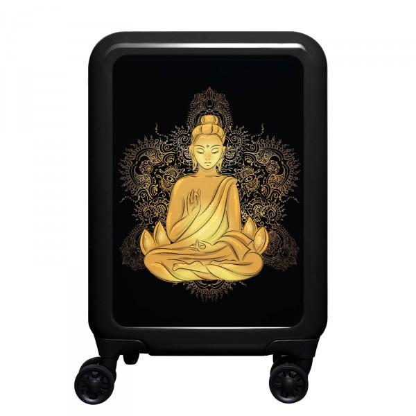 meinTrolley Buddha 55cm 4 Rollen schwarz