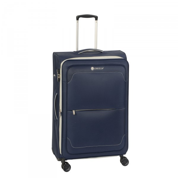 CHECK.IN Monaco Trolley 68 cm 4 Rollen erweiterbar blue/grey Front