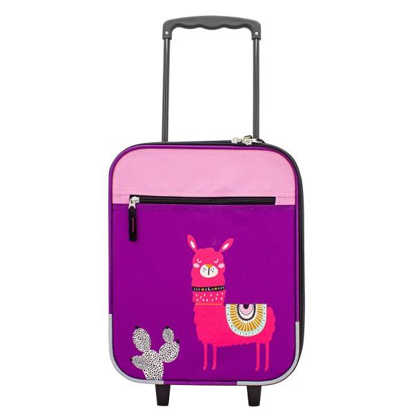 F23 Kindertrolley Lama 43 cm 2 Rollen pink
