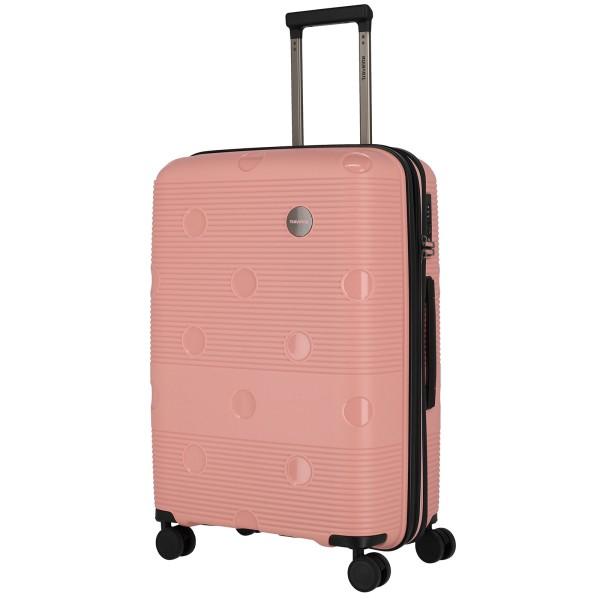 travelite Smarty Trolley 68 cm erweiterbar 4 Rollen rosa