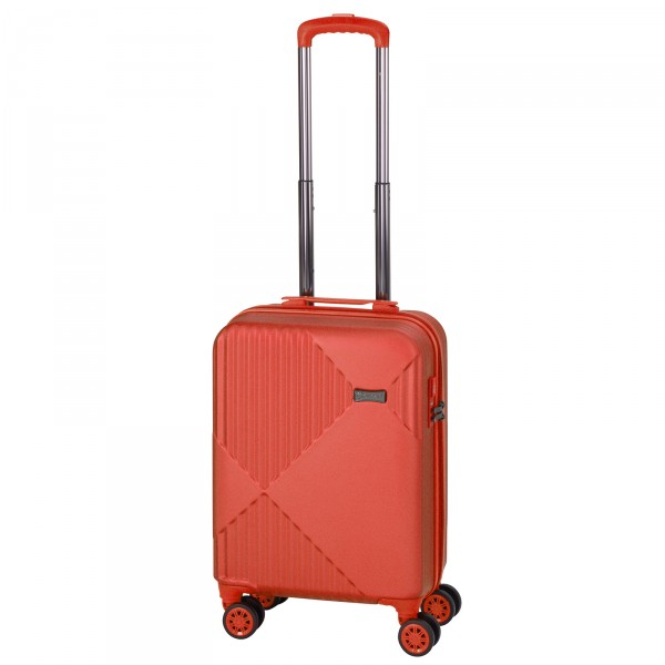 CHECK.IN Liverpool Kabinentrolley 55 cm 4 Rollen rot Frontansicht