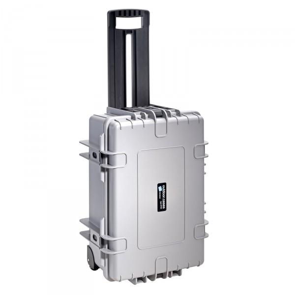 B&W Outdoor Case Typ 6700 grau 2 Rollen - Vorderansicht