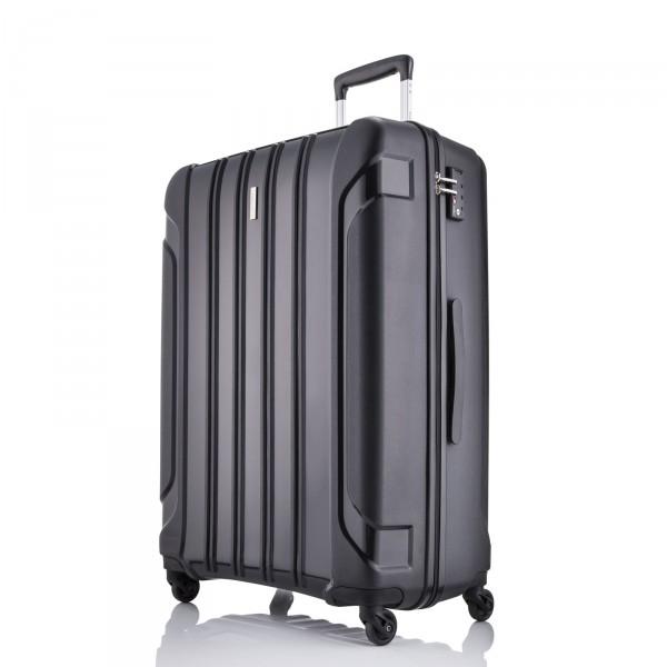 travelite Colosso Trolley 65 cm 4 Rollen schwarz - Frontansicht