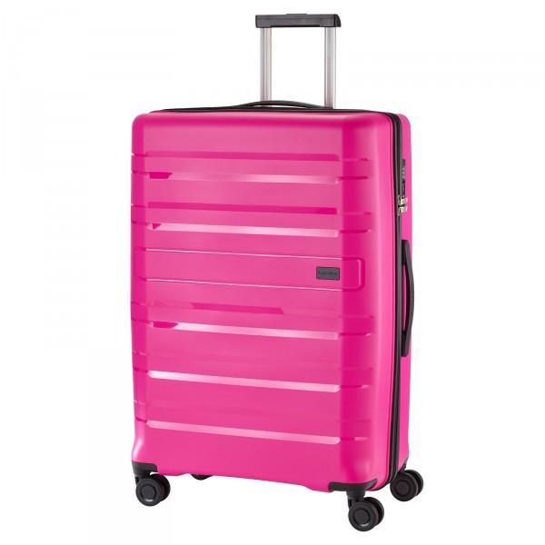 travelite Kosmos Trolley 77 cm 4 Rollen pink Schrägansicht