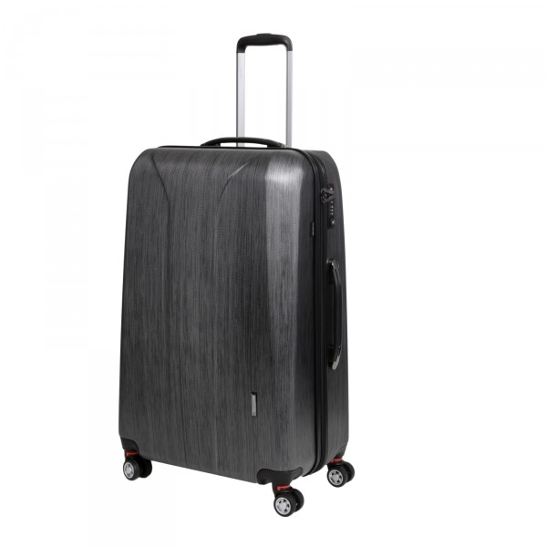 March15 New Carat Trolley 75 cm 4 Rollen black brushed Schrägansicht