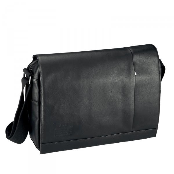 d&n Basic Line Messenger Bag 39 cm schwarz