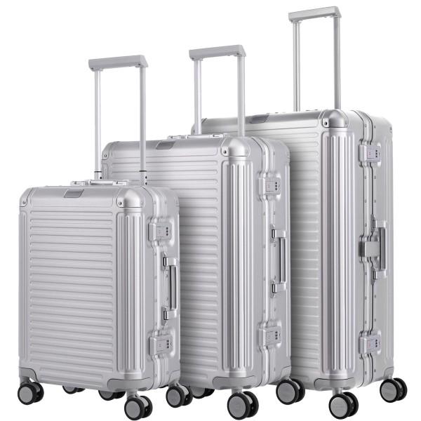 travelite Next Aluminium-Trolley Set S/M/L silber