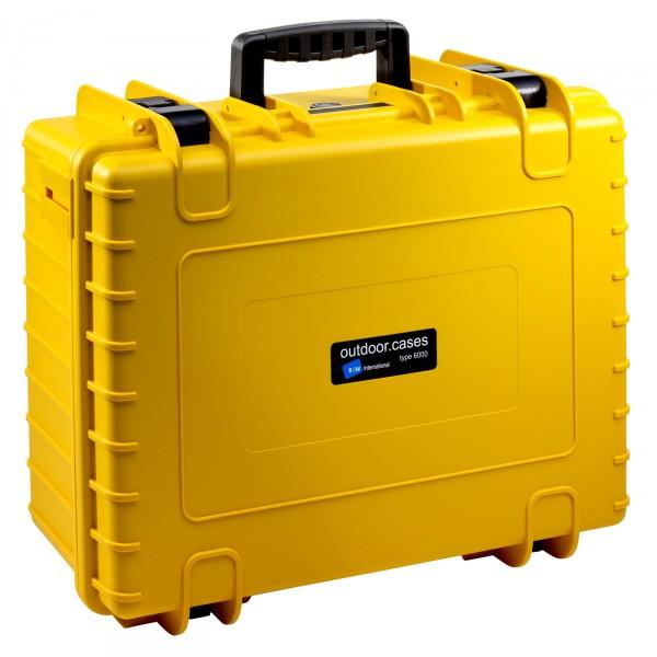 B&W Outdoor Case Typ 6000 gelb - Vorderansicht