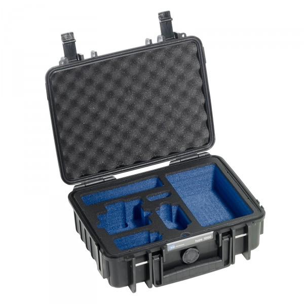 B&W GoPro Case Typ 1000 schwarz mit Schaumstoffeinsatz für GoPro HERO4 - Frontansicht