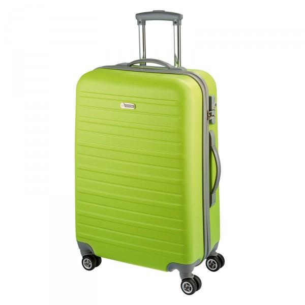 d&n Travel Line 9400 Trolley 76 cm 4 Rollen limette - Frontansicht