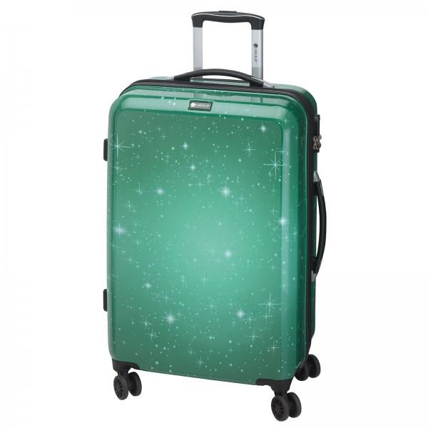 CHECK.IN Galaxy Trolley 77 cm 4 Rollen grün Frontansicht
