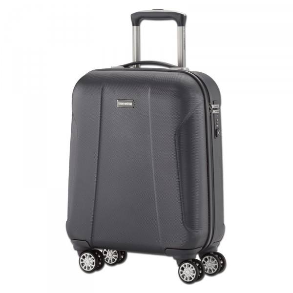 travelite Elbe Two Trolley anthrazit 55 cm 4 Rollen - Frontansicht