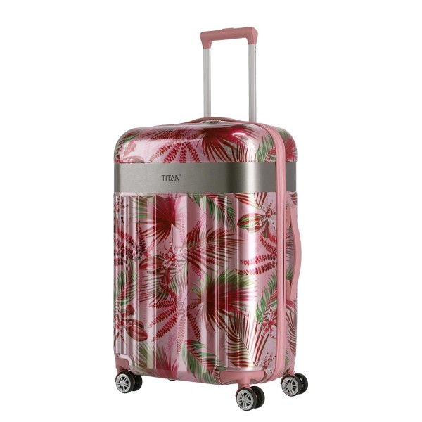 TITAN Spotlight Flash Flower Trolley 67 cm 4 Rollen Pink Hawaii