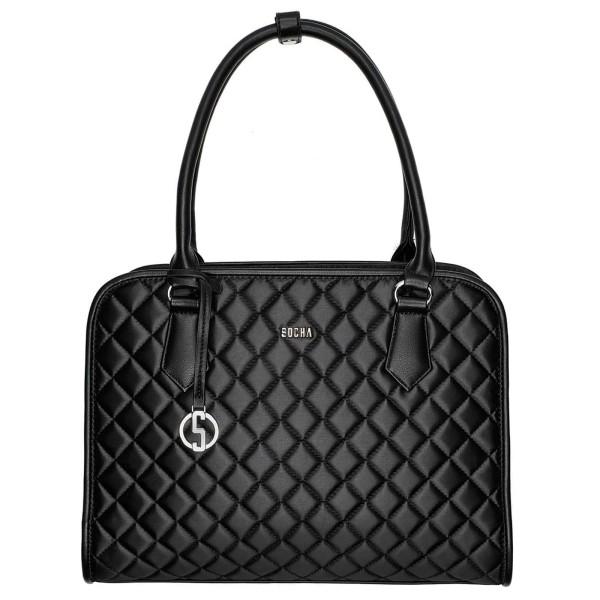 SOCHA Diamond Midi Business-Handtasche 39 cm black