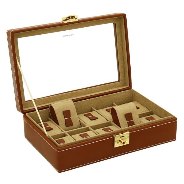 Friedrich 23 Cordoba Uhrenkoffer aus Leder für 10 Uhren