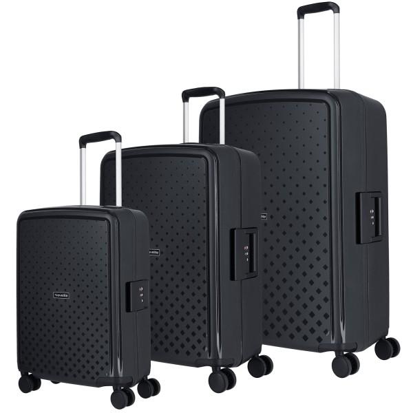 travelite Terminal Trolley Set 54/67/76 cm 4 Rollen schwarz