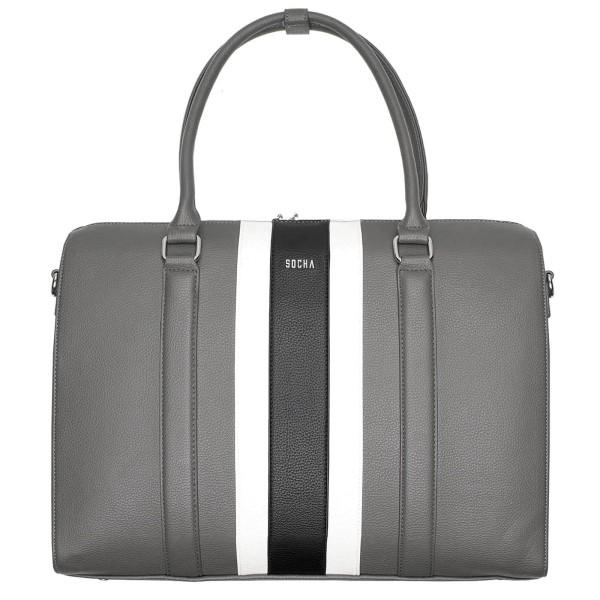 SOCHA BB Black Stripe Business-Handtasche 44 cm black