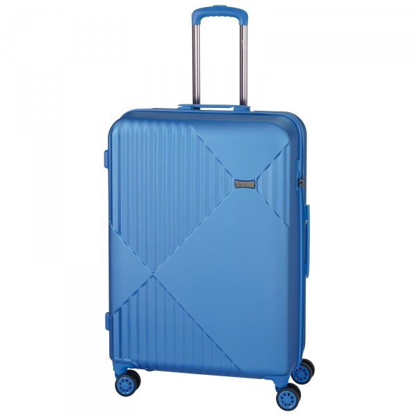 CHECK.IN Liverpool Trolley 78 cm 4 Rollen blau Frontansicht