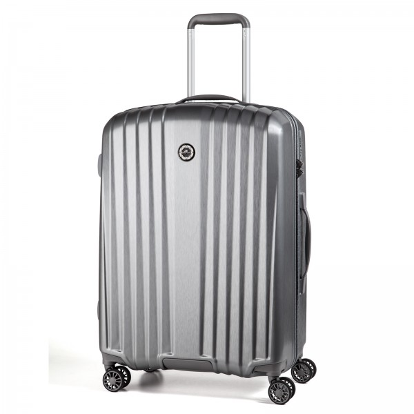 March15 Everest Trolley 67 cm 4 Rollen silver brushed Frontansicht
