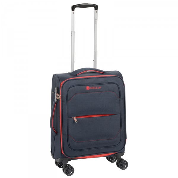 CHECK.IN Monaco Kabinentrolley 55 cm 4 Rollen erweiterbar blue/red Front