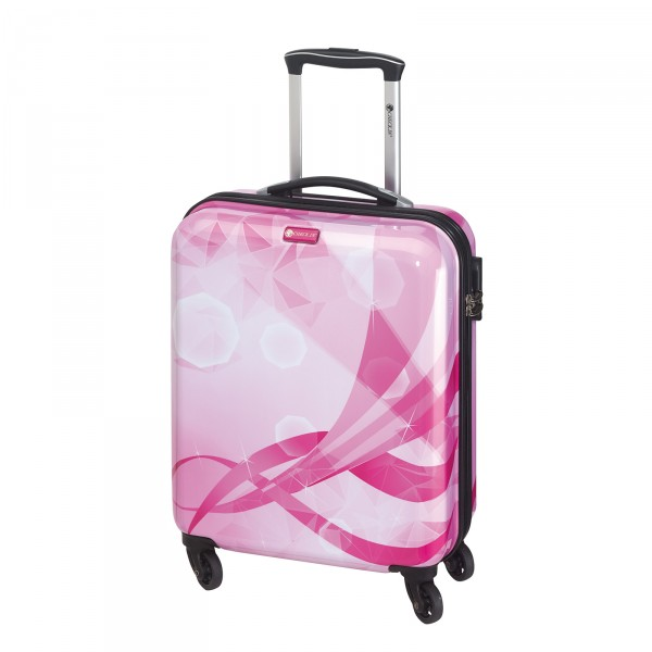 CHECK.IN Atlantis Kabinentrolley 54 cm 4 Rollen pink Frontansicht