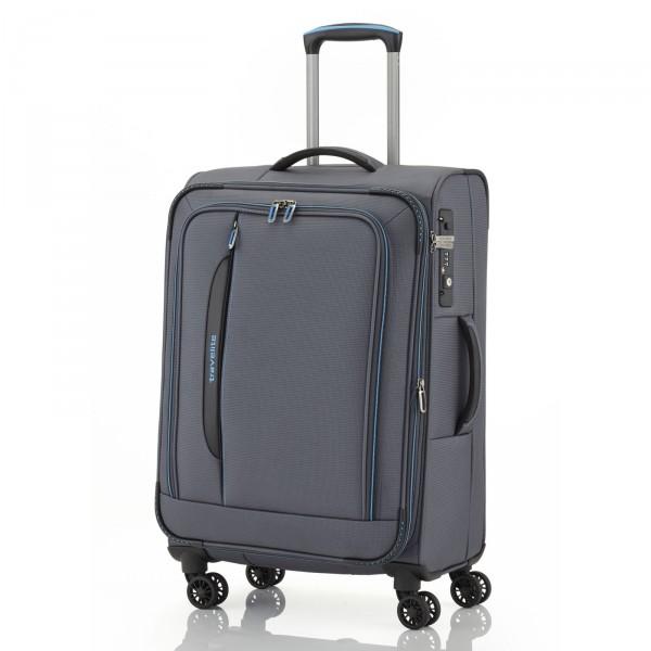 travelite CrossLITE Trolley 67 cm 4 Rollen erweiterbar anthrazit - Frontansicht