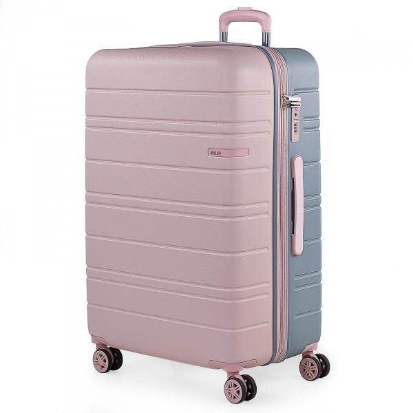JASLEN San Marino Trolley 77 cm 4 Rollen erweiterbar pink/silver
