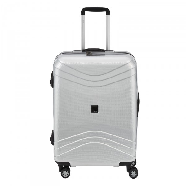 TITAN Libra Trolley 63 cm 4 Rollen Shiny Silver - Frontansicht