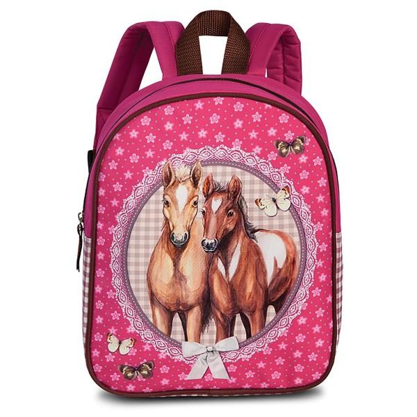 Fabrizio Kids Pferde Rucksack 29 cm pink