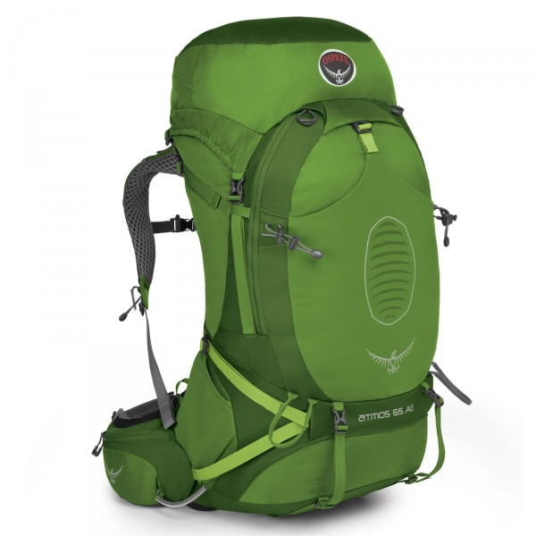 Osprey Atmos AG 65 Trekking-Rucksack Absinthe Green - Frontansicht
