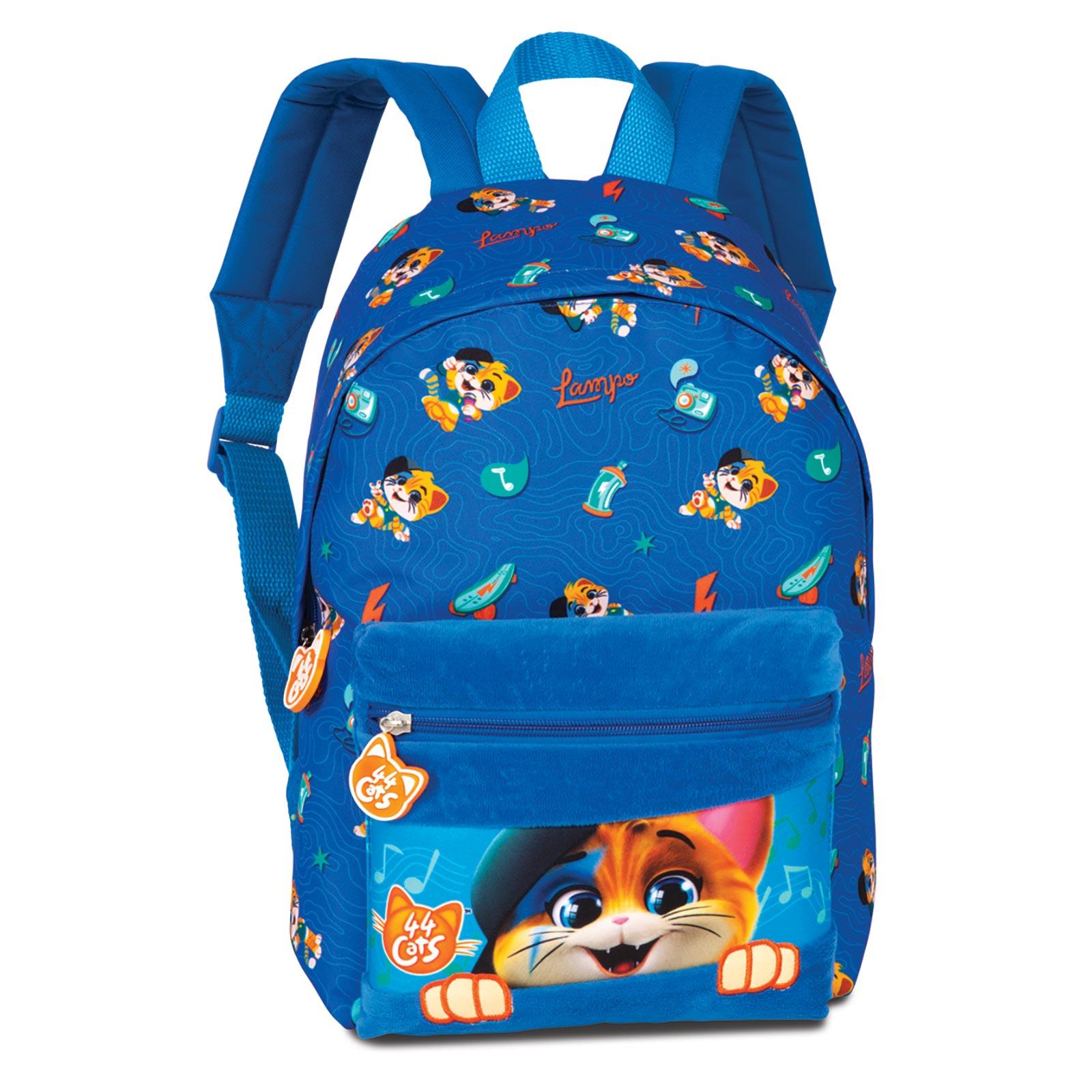 Fabrizio Kids 44 Cats Rucksack 36 cm - Blau 20629-0600