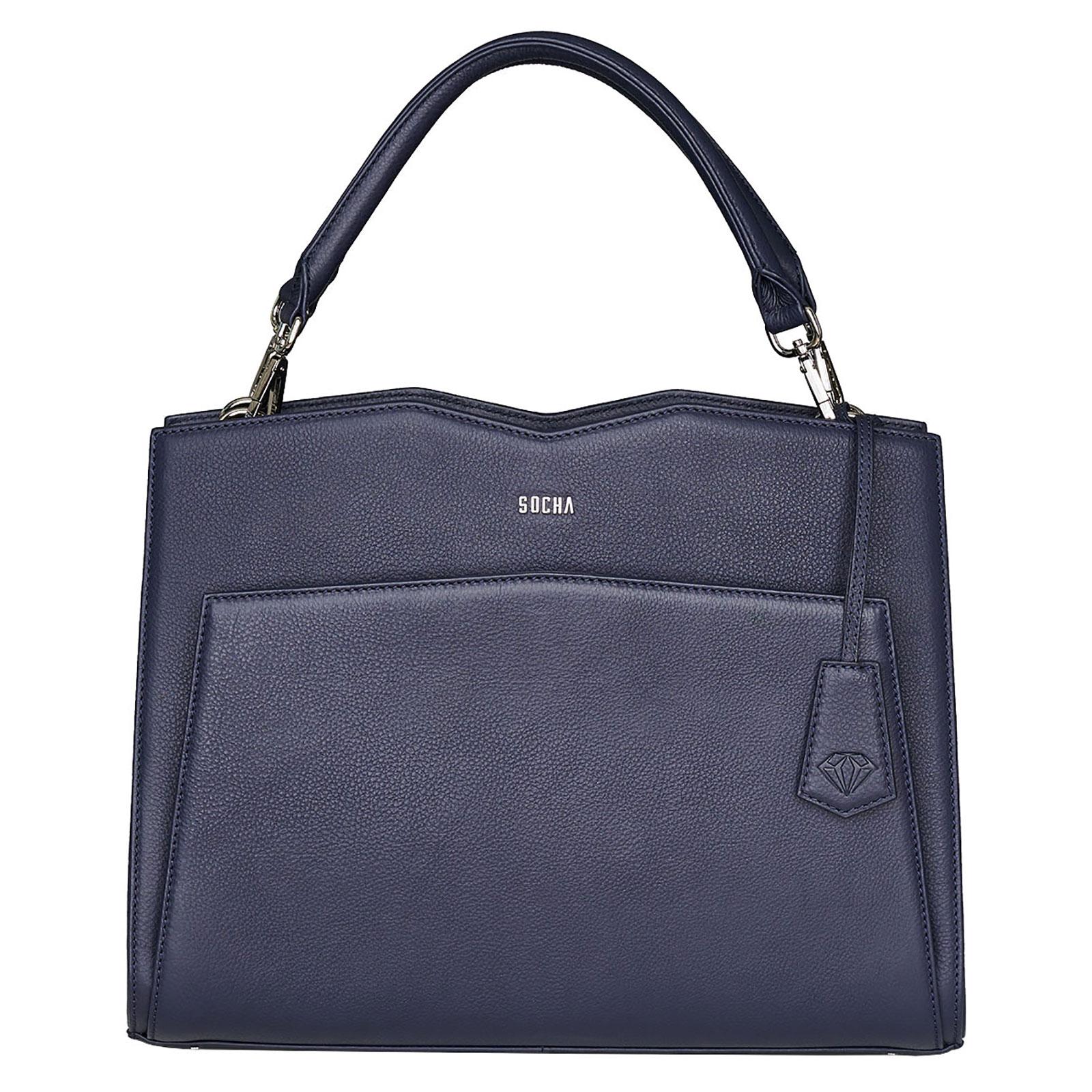 Aktentaschen SOCHA Diamond Shoulder Bag Damen Handtasche 39 cm, Blau