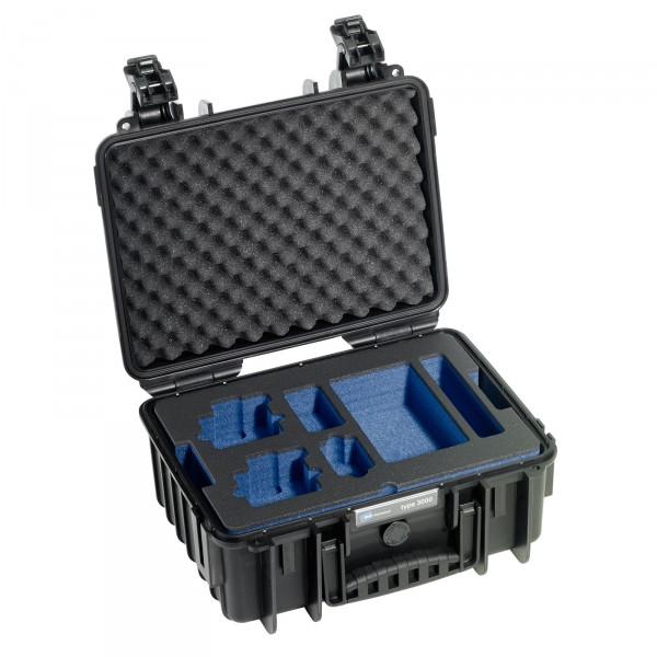 B&W GoPro Case Typ 3000 schwarz mit Schaumstoffeinsatz für GoPro HERO4 - Frontansicht