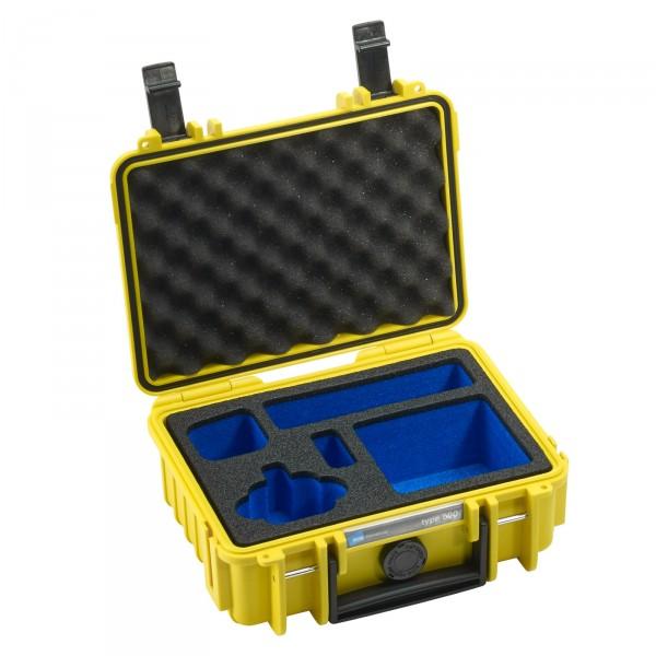 B&W GoPro Case Typ 500 gelb - Mit Schaumstoffeinsatz für GoPro HERO4 Session