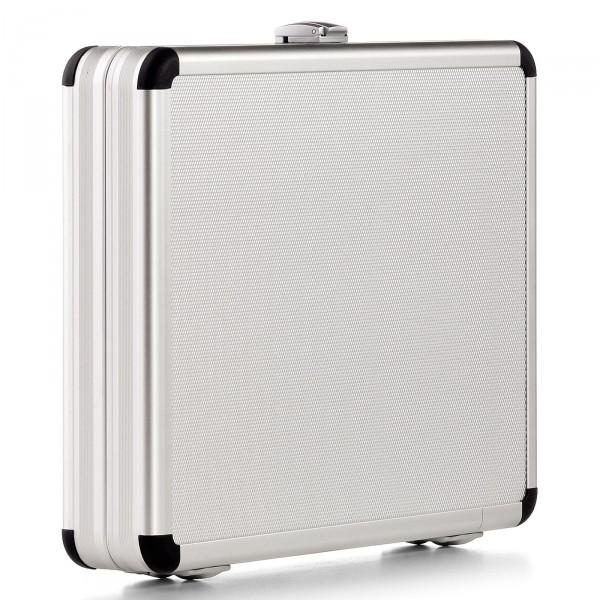 bwh Koffer AZKE Etui silber 32,5 cm - Vorderansicht