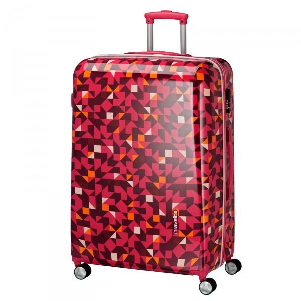 travelite Campus Quadro Trolley 68 cm 4 Rollen pink Schrägansicht