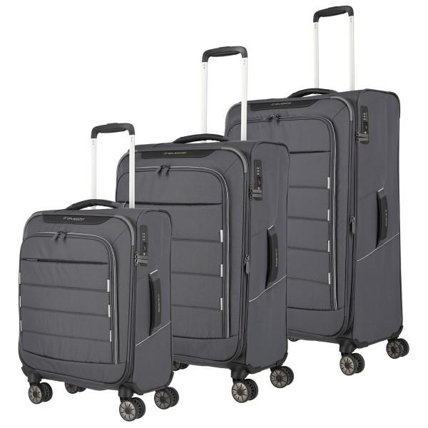 travelite Skaii Trolley Set 55/67/78 cm 4 Rollen grau