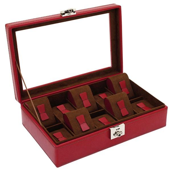 Friedrich|23 Cordoba Uhrenkoffer aus Leder für 10 Uhren