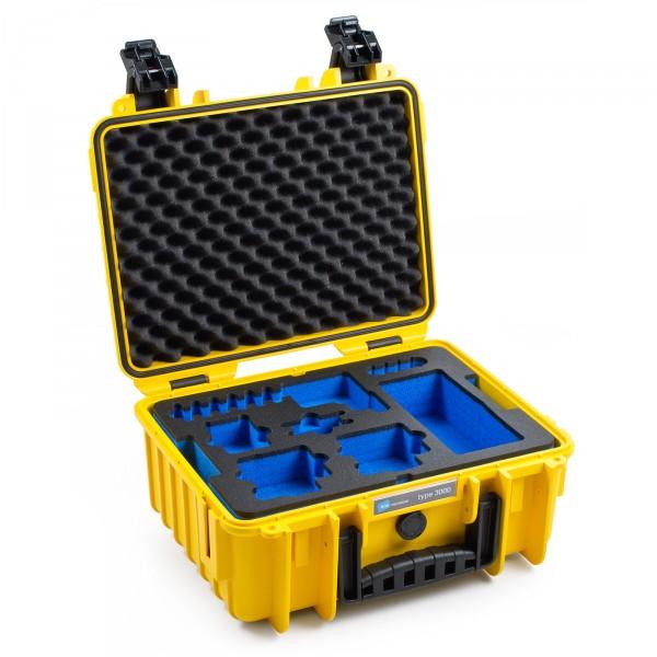 B&W GoPro Case Typ 3000 in gelb für GoPro Hero 5 - Front 1