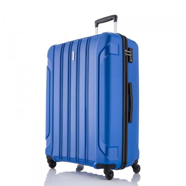 travelite Colosso Trolley 65 cm 4 Rollen blau - Frontansicht