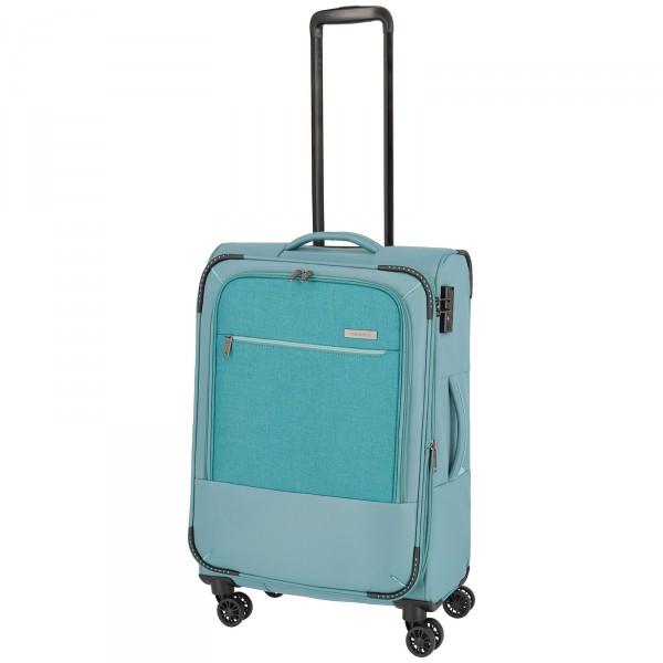 travelite Arona Trolley 66 cm 4 Rollen erweiterbar aqua