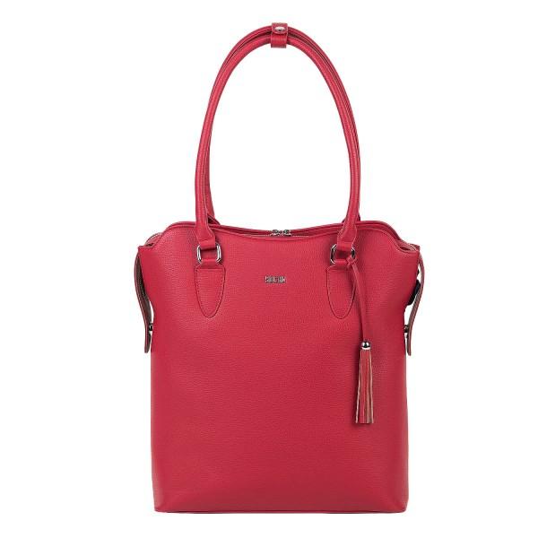 SOCHA Business-Handtasche 4WAY 32 cm cherry red Frontansicht