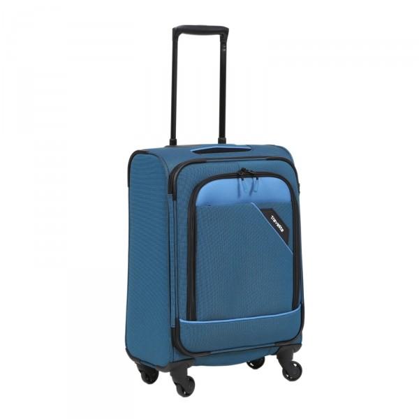 travelite Derby Modell 2018 Trolley 55 cm 4 Rollen blau Schrägansicht