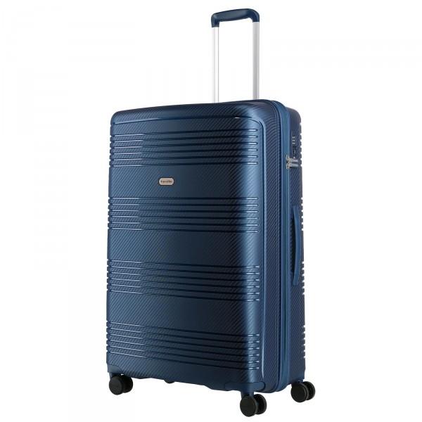 travelite Zenit Trolley 77 cm 4 Rollen blau