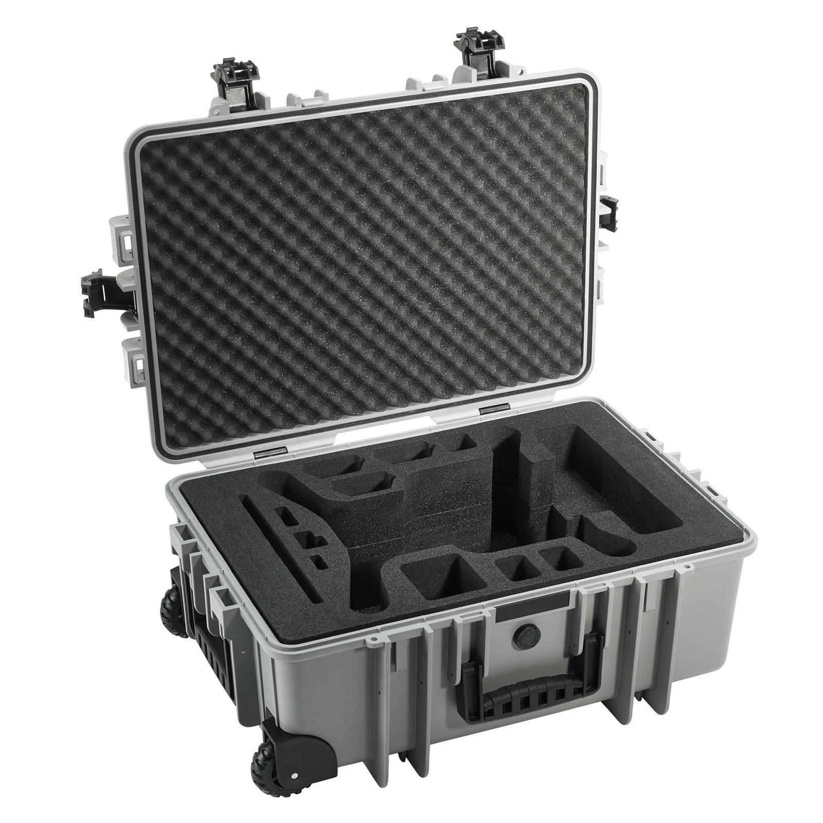 B&W International B&W Copter Case Typ 6700 für 3DR Solo Quadrocopter 2 Rollen 42,8 l - Grau 6700/G/3DR