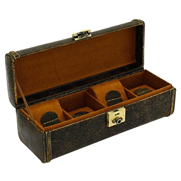 Friedrich|23 Cubano Uhrenkoffer aus Leder für 4 Uhren