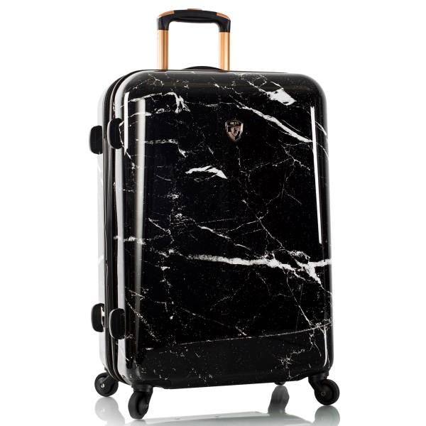 Heys Marquina Trolley 66 cm 4 Rollen Erweiterbar Black Marble