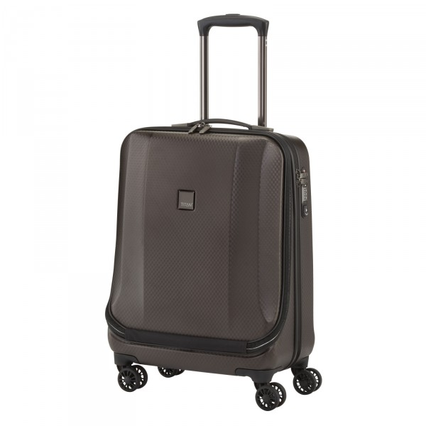 TITAN Xenon Deluxe Business-Trolley 55 cm 4 Rollen brown - Schrägansicht