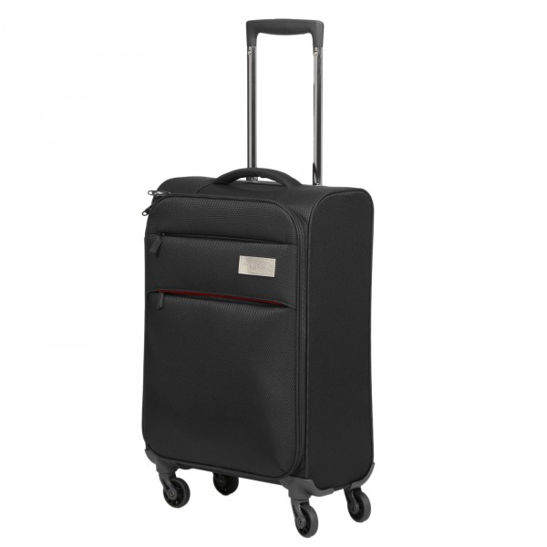 March15 Polo Trolley 55 cm 4 Rollen black Schrägansicht